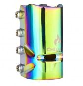 Chilli Clamp 4-bolt SCS oversized - rainbow
