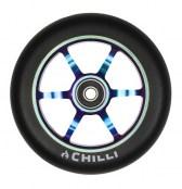 Chilli Wheel 6-spoked 120 mm - schwarz/rainbow
