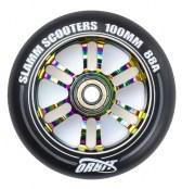 Slamm Wheel Orbit 100 mm - schwarz/rot