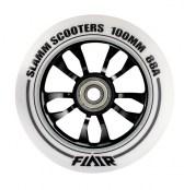 Slamm Wheel Flair 100 mm - weiss/schwarz